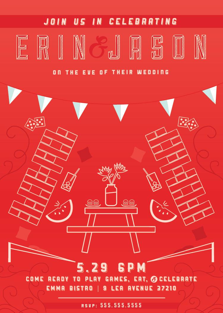 Rehearsal Dinner Part Invite - Heidi Gruner Design | Branding, Print ...